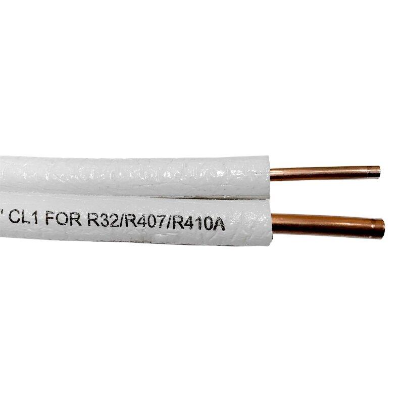Kältemittelleitung doppel 20 Meter für R410a R32 Split Klimaanlagen 1//4-3//8
